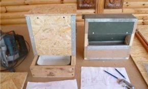 Изготовление кормушек и поилок для кроликов