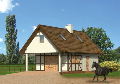 Крыша конюшни