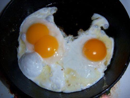 Яйца индоутки жареные