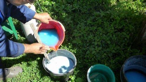 Обработка винограда бордосской смесью