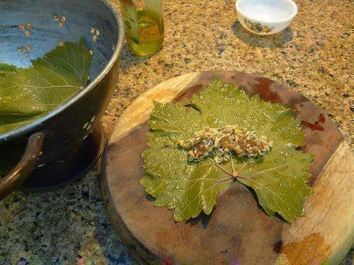Блюда из виноградных листьев