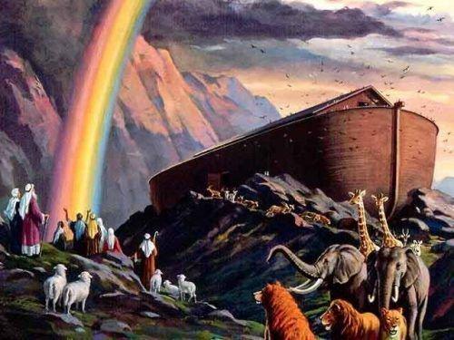 Ной на горе Арарат