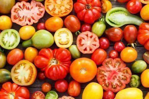 Разные сорта помидор