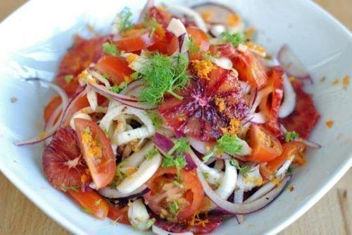 Салат с красным апельсином